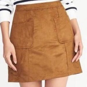 Old Navy Faux Suede Mini Pocket Skirt